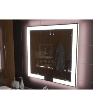 Зеркало с подсветкой для ванной комнаты Новара 50x50 см