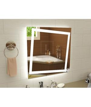 Зеркало с подсветкой для ванной комнаты Торино 40x40 см