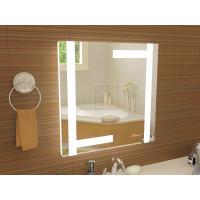 Квадратное зеркало в ванную с подсветкой Витербо размером 700x700 мм