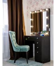 Гримерный столик Жанна с гримерным зеркалом и подсветкой 80х80