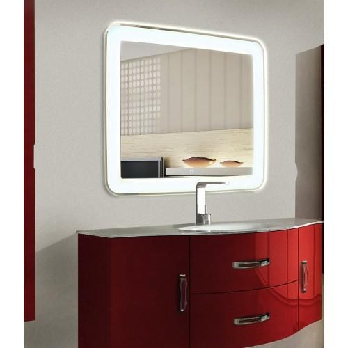 Зеркало в ванную комнату с подсветкой Мила размером 40 на 40 см